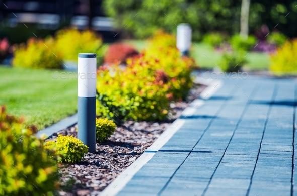Cobblestone Brick Path - Stock Photo - Images