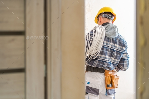 Electric Systems Installer - Stock Photo - Images
