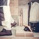 Worker Remodeling Bathroom - PhotoDune Item for Sale