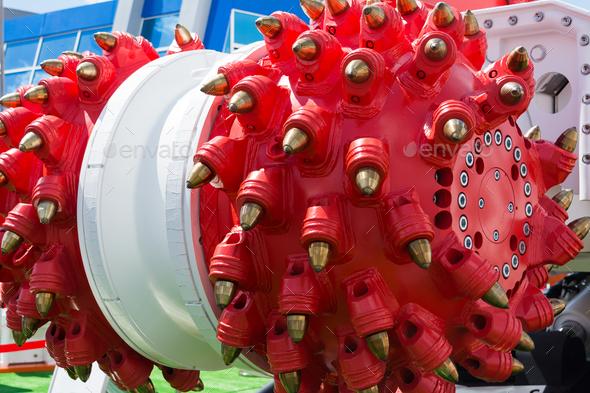 Mechanical mole mining equipment - Stock Photo - Images