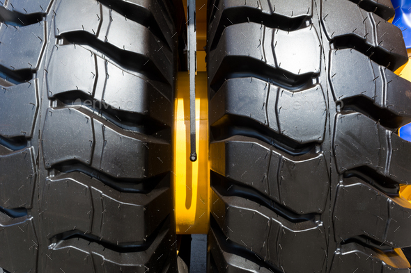 Two truck wheel tire texture - Stock Photo - Images