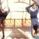 Fly Yoga Exercises Outdoors - VideoHive Item for Sale