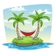 Hammock Between Two PalmTrees - GraphicRiver Item for Sale
