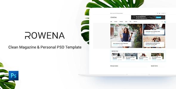 Rowena – Minimal Magazine PSD Template