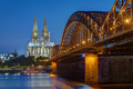 The Cologne Cathedral and the Hohenzollern railway bridge - PhotoDune Item for Sale