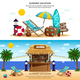 Summer Vacation Horizontal Banners