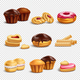 Confectionery Products Icons Collection