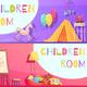 Children Room Horizontal Cartoon Banners