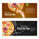 Realistic Pizza Horizontal Banners