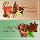 Realistic Chocolate Banners
