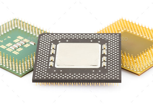Central processing unit or Computer chip-3 - Stock Photo - Images