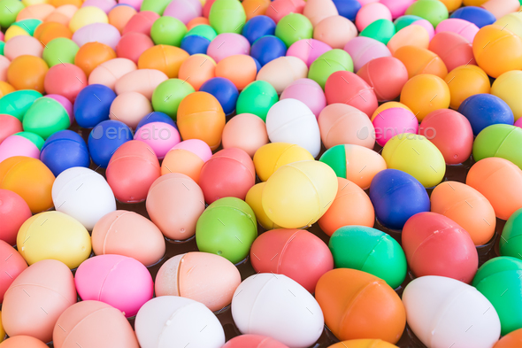 Colorful plastic eggs toy-13 - Stock Photo - Images
