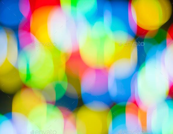 Defocused multi bokeh light_ - Stock Photo - Images