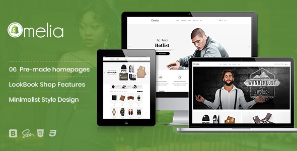 Image of Omelia - Minimalist Style, Fashion LookBook Shopify Theme