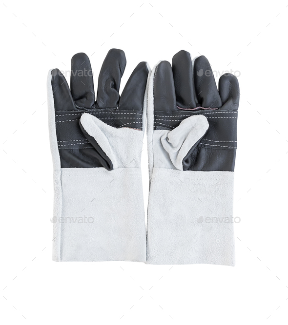Leather gloves for welding-2 (2) - Stock Photo - Images