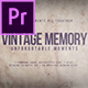 Vintage Memory - VideoHive Item for Sale