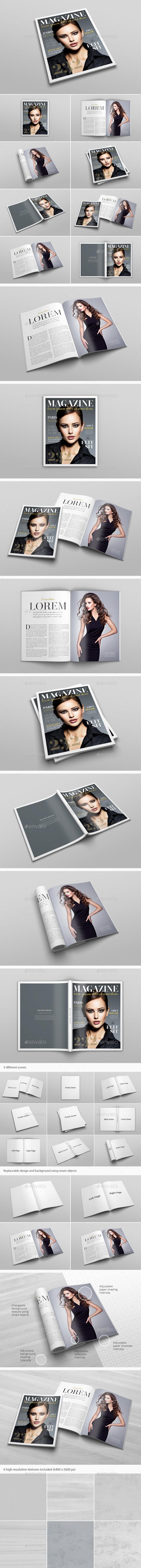 US Letter Magazine Mockup - Magazines Print