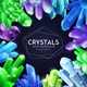 Crystals Colorful Realistic Background