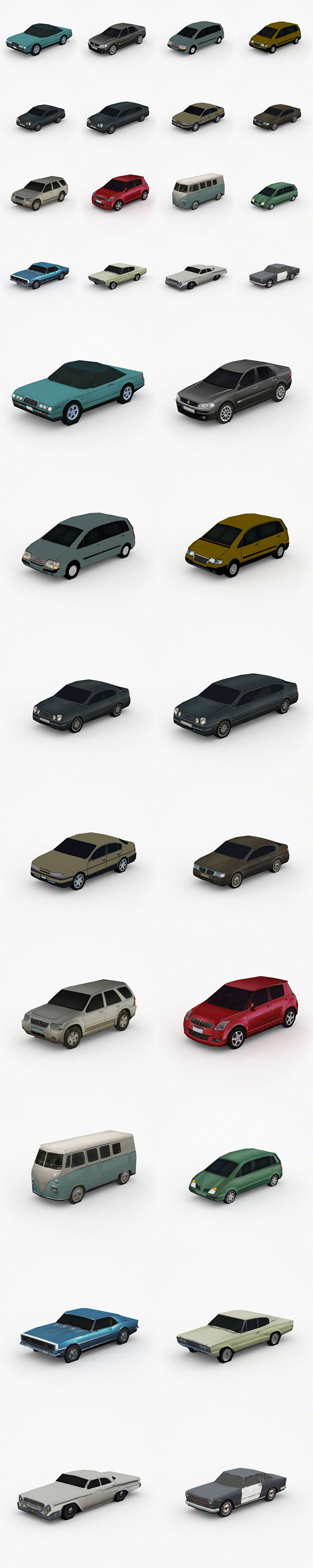 3D model Low Poly Cars Pack Vol. 2 - 3DOcean Item for Sale