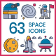 Space Icons - GraphicRiver Item for Sale