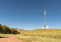 Landscape with cellphone tower on road R396 near Rhodes - PhotoDune Item for Sale