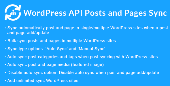 WordPress API Posts and Pages Sync with Multiple WordPress Sites            Nulled