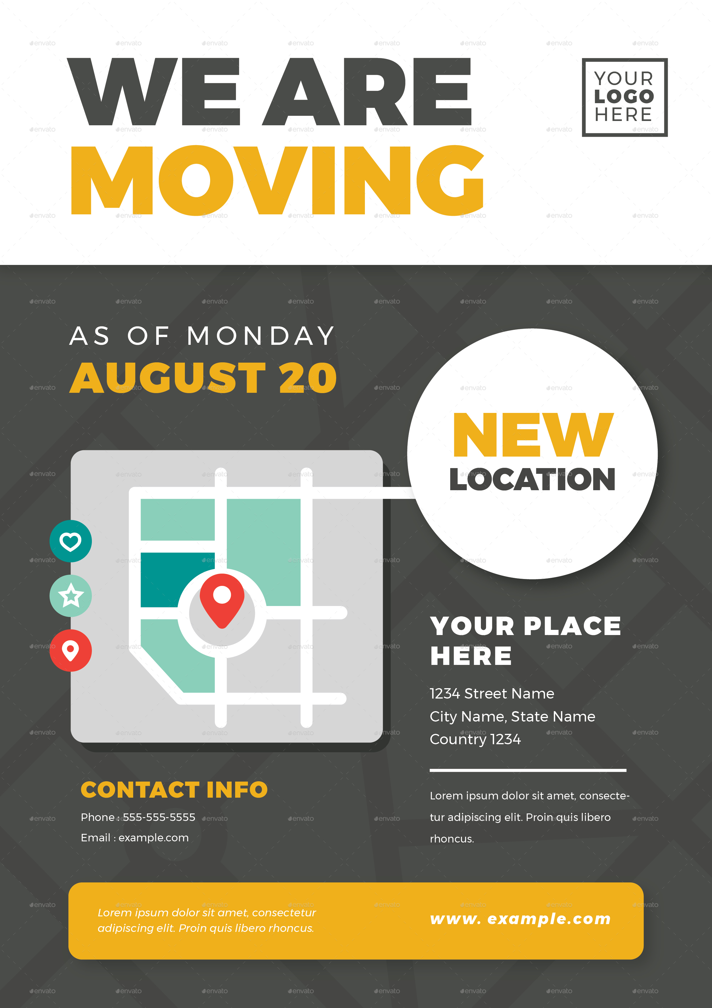 we are moving flyer templates by vector vactory