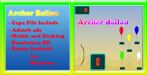 Archer Ballon (Capx + Admob)            Nulled