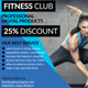Fitness Postcard Psd Template - GraphicRiver Item for Sale