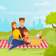 Family Relaxing on Picnic - GraphicRiver Item for Sale