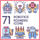 Robotics Icons - Rounded