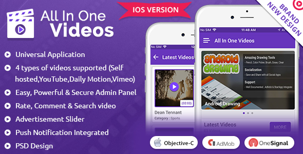 iOS All In One Video - CodeCanyon Item for Sale