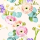 Seamless Pattern with Calla and Ranunculus - GraphicRiver Item for Sale