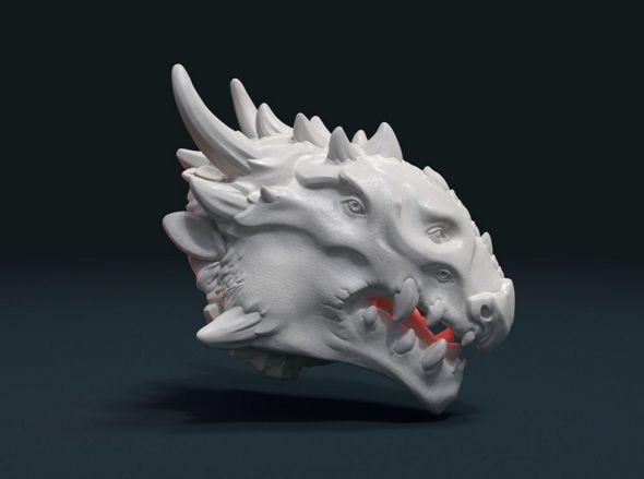 Demon Dragon Head - 3DOcean Item for Sale