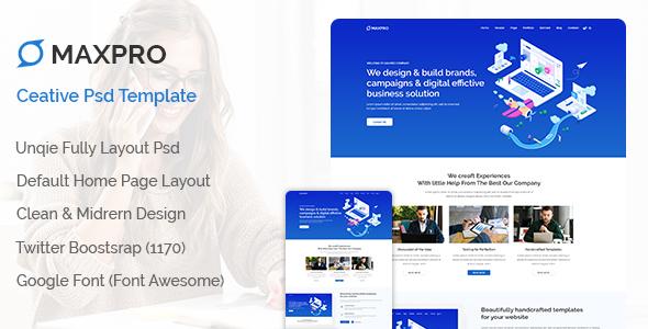 Maxpro - Creative PSD Template - PSD Templates