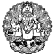 Vector Illustration of Ganesha Hindu God Elephant