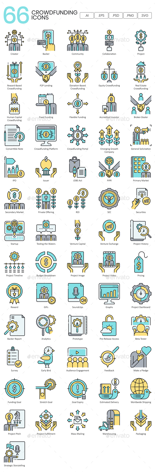 Crowdfunding Icons - Business Icons
