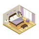 Isometric Hotel Service Concept