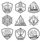 Vintage Monochrome Marine Labels Set
