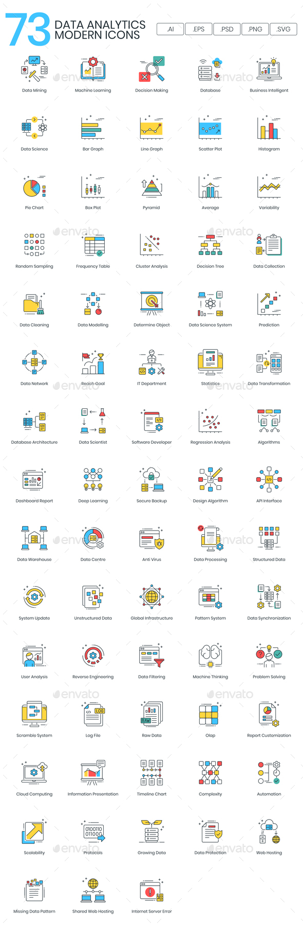 Data Analytics Icons - Modern - Web Icons