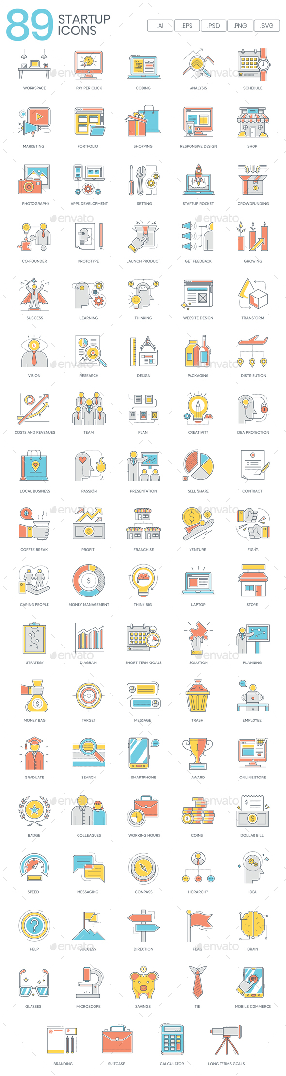 Business Startup Icons - Business Icons