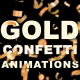 Gold Confetti - VideoHive Item for Sale