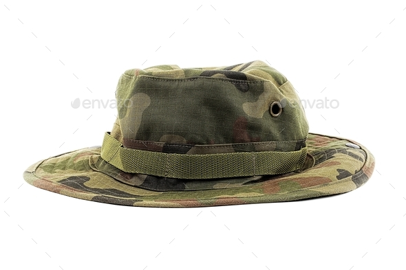 Hat in military patterns  - Stock Photo - Images