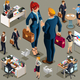 Businessmen Icons Isometric People - GraphicRiver Item for Sale