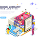 Dictionary Library Icon Encyclopedia - GraphicRiver Item for Sale