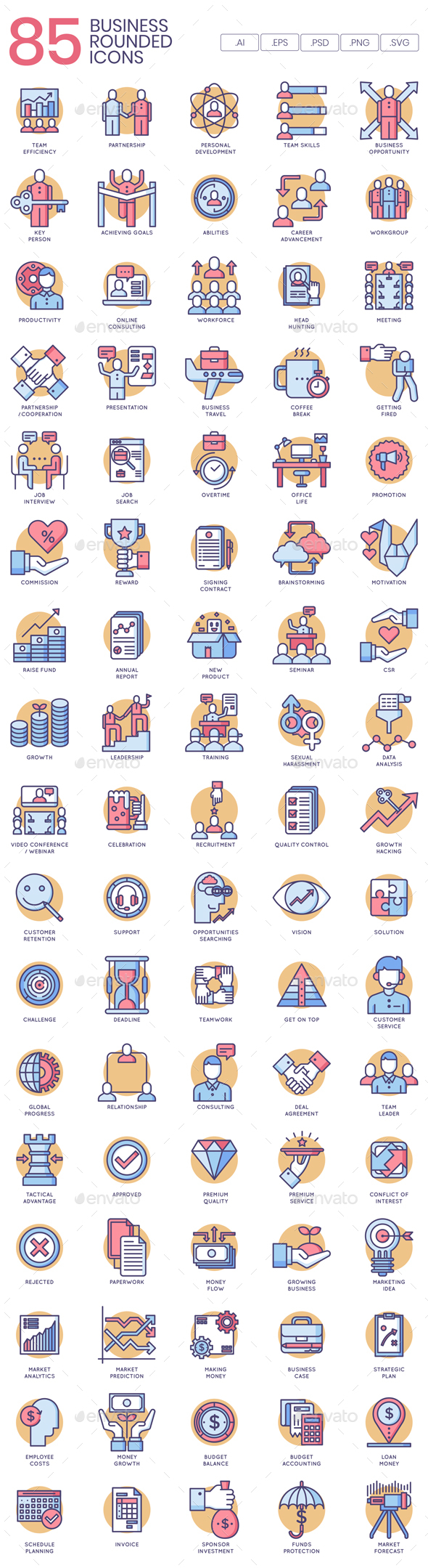 Business Icons - Rounded - Business Icons