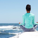 behind of yoga woman at the beach - PhotoDune Item for Sale