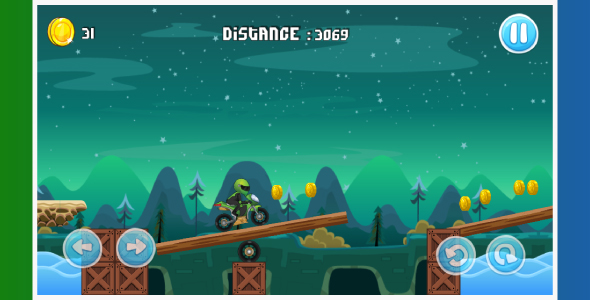 Moto bike race game: Android Game - share button- review button-easy to reskin