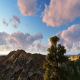 Cloud Sunset Mountain - VideoHive Item for Sale