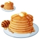 Pancakes with Honey and Butter - GraphicRiver Item for Sale